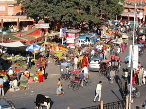 Markttreiben in Indien
